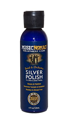 (Music Nomad MN701 Silver Polish for Silver and Silver-Plated Instruments,  4 oz.)