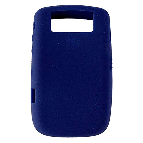(OEM Dark Blue Blackberry Silicone Rubber Gel Skin Case Cover for Tour 9630 and Bold 9650)