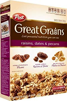 Post Selects Great Grains Raisin, Date & Pecan Cereal,16-Ounce ( Case of 12 ) (Merchandise Alpha)