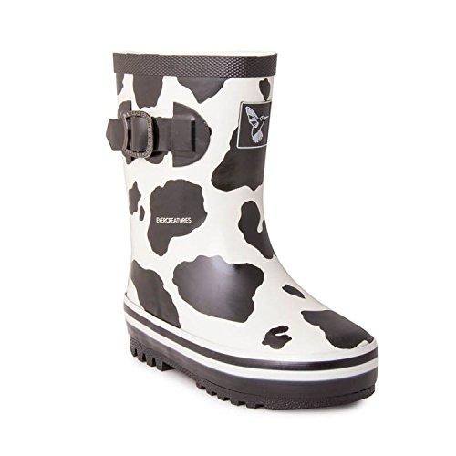 Evercreatures Cow - Botas de agua de goma mujer Black