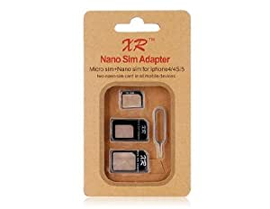 Nano SIM Four-in-One Kit for iPhone 4 & 4S, iphone 5 (Black)
