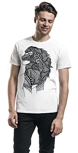 Unbekannt der König der Löwen Lion Ink Herren T-Shirt Weiß