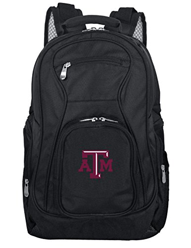 Denco NCAA Texas A&M Aggies Voyager Laptop Backpack, 19-inches, Black