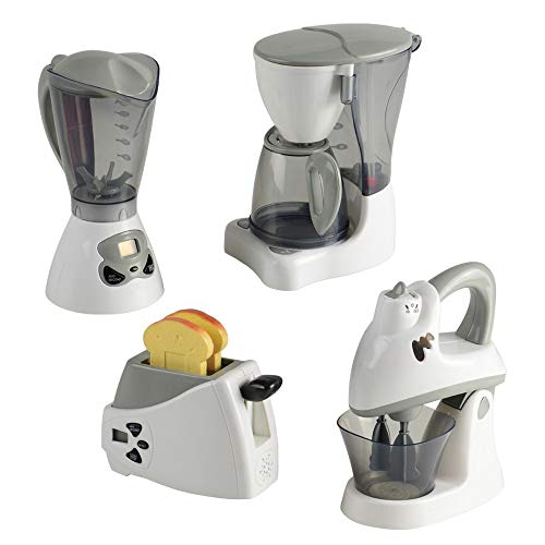 - CP Toys Action Fun Appliance Breakfast Set and Marvelous Mixers - Includes Toaster, Coffee Maker, Blender, and Mixer