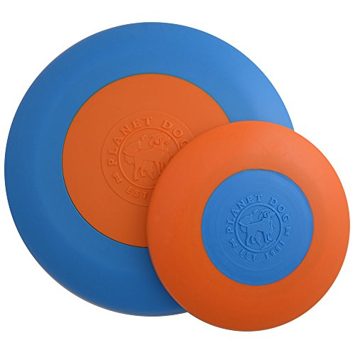 Planet Dog Orbee Tuff Zoom Flyer, Interactive Fetch Dog Toy for Small Dogs, 100% Guranteed, Made in The USA, Small 6.5