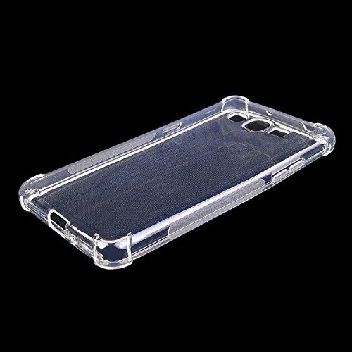 COOLKE Delgado Anti Slip Soft TPU Funda Silicona Protective Carcasa Tapa Case Cover Para Samsung Galaxy Grand Prime - Transparente