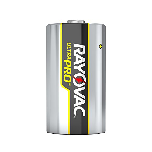 Rayovac UltraPro Alkaline D Batteries, 12-Pack with Recloseable Lid (ALD-12)