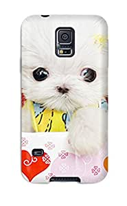 High Quality ManuelAW Cute Puppies Make Your Girlfriend Smile Skin Case Cover Specially Designed For Galaxy - S5