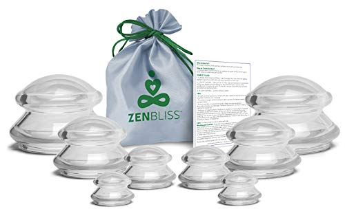 Cupping Therapy Sets - 8 Massage Cups for Cupping Therapy and Anti Cellulite Massage Cups for Cellulite Cupping (8) ()