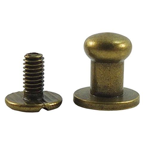 Bronze Ball Head - Bluemoona 50 Sets - Head Button 6mm 1/4