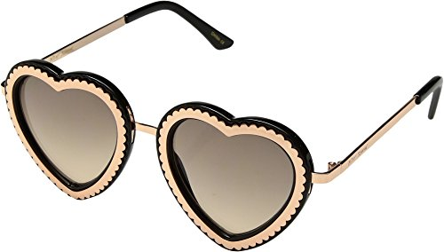 Betsey Johnson Women's BJ485232 Black/Gold One - Johnson Betsy Sunglasses
