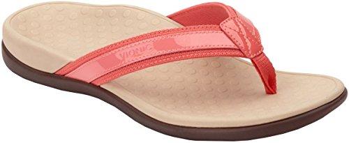 Vionic Womens Tide II Toepost Sandal, Coral, Size 5