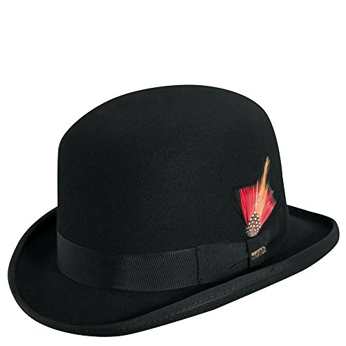 Scala Men's Wool Felt Derby Hat, Black, Medium -