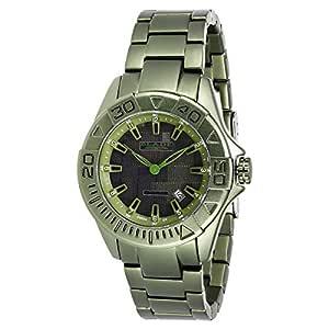 BLADE Men's Army Green Dial Hi-Tech Aluminum Band Watch - 3148G