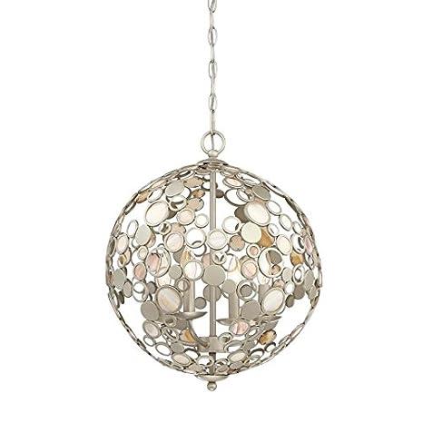 Quoizel Fairgate 5-in Silver Coastal Multi-Light Orb Pendant ... | quoizel fairgate pendant