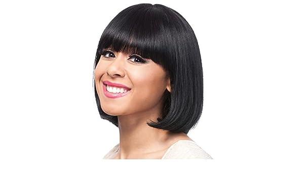 falamka D3213 color negro completo Bang peluca mujer Bob ...