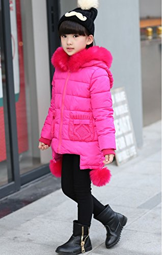 9ef3d44b1366e 森本ネット通販)ダウンジャケット キッズ 可愛い 子供服 女の子ファー ダウンコート 中綿