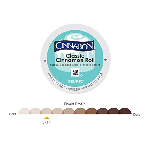 Cinnabon K-Cup Portion Pack for Keurig Brewers, Classic Cinnamon Roll, 72 Count 24-0.33oz (9.4g)/EA Net Wt 7.9oz by Cinnabon (Image #2)