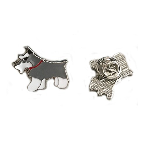 Nasha Lovely Pet Brooch Dogs Style Cute Brooch Pins Models Series Corsage Metal Christmas Birthday 2PCS ()
