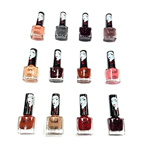 Glavon Qubee Mini Nude Collection 12 Nail Polish [6 ml] with Free Qubee Nail Paint Remover Tissue Pad Pack Of 64 Wipes…