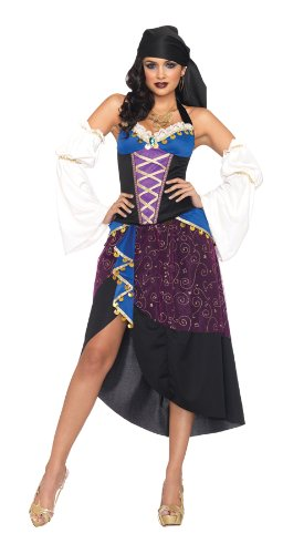 Tarot Card Gypsy Costumes (GTH Women's Historic Sexy Tarot Card Gypsy Theme Party Fancy Costume, S (4-6))