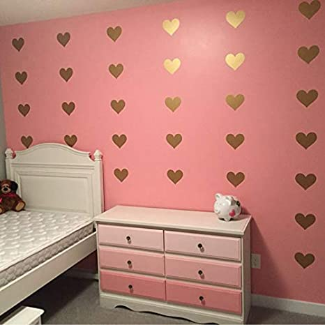 Chitop (32 Pcs Little Hearts Wall Stickers Wall Decals, Removable Home Decoration Art Wall