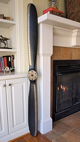 (70 Inch Black and Silver Wood Airplane Propeller)