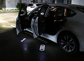 Led4Car LED PROJECTOR CAR DOOR LIGHTS SHADOW PUDDLE COURTESY LASER LOGO QUATTRO