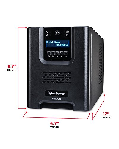 CyberPower PR1500LCD Smart App Sinewave UPS System, 1500VA/1050W, 8 Outlets, AVR, Mini-Tower by CyberPower (Image #2)