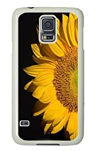 Rosesea Custom Personalized sunflower PC Hard Plastic Case for Samsung S5/Samsung Galaxy S5 Whtie