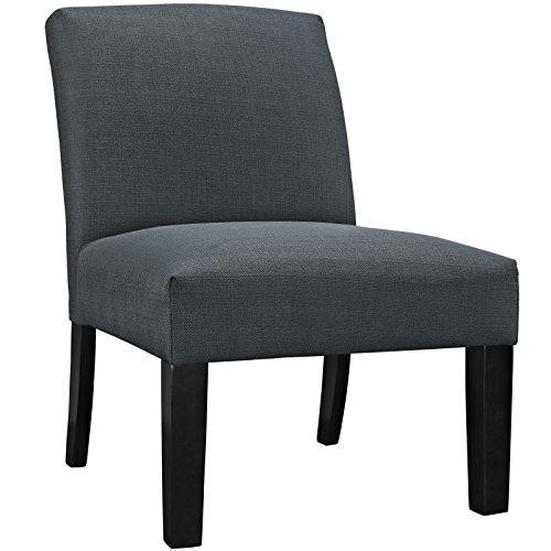 - Modern Urban Contemporary Fabric Armchair, Grey Fabric