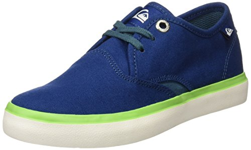 green Yout Shorebreak white blue Garçon Bleu Quiksilver Richelieus T1nx0w0q