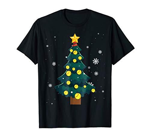 Softball Christmas Tree T-shirt Funny Softball Fans