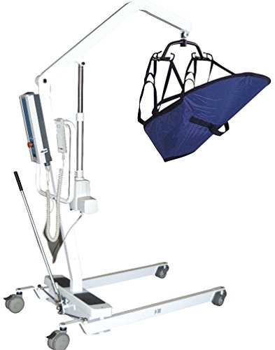 (Drive Medical Electric Patient Lift with Rechargeable Battery, White)