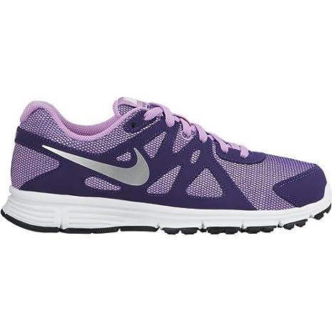 newest collection da961 6cfa0 Nike Revolution 2 GS Calzatura, Viola Argento Bianco, 38.5