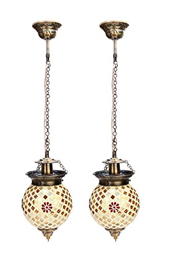 Somil Royal And Stylish Pendent Decorative Hanging Ceiling Lamp Compatible With 5 To 80 Watt LED And Other Bulb, (Round…