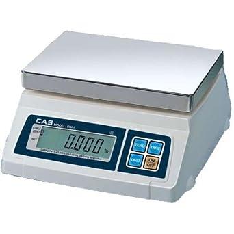 CAS SW-1W(10lb) Washdown Portion Control Scale, 10lb Capacity, 0.002lb Readability