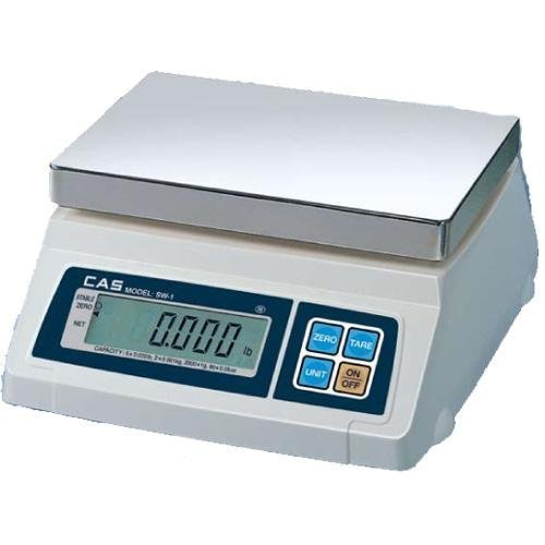 CAS SW-1W(10lb) Washdown Portion Control Scale, 10lb Capacity, 0.002lb Readability