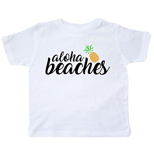 inktastic Hawaiian Pineapple Aloha Beaches Toddler T-Shirt
