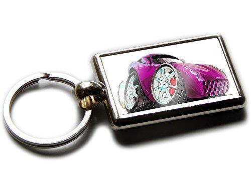 Koolart Cartoon Car TVR Tuscan Chrome Keyring Picture Both Sides (Purple)