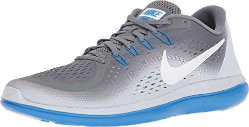 NIKE Men's Flex 2017 RN (Cool Grey/White-Pure Platinum, 8.5 D(M) US) (Sole Sock Double)
