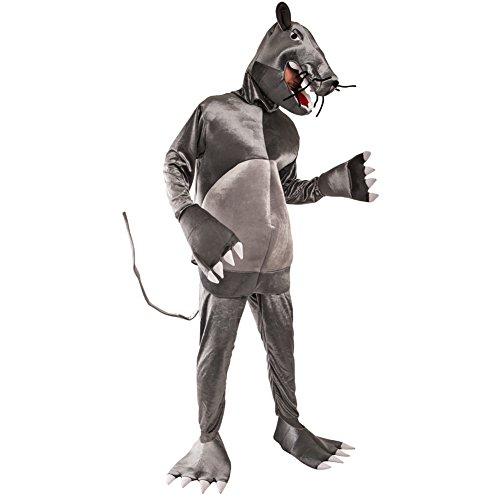 Rat Halloween Costume (Adult Rat Costume, Size Adult)