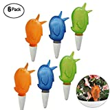 6Pack Automatic Plant Waterers Bird Shape Ceramic Vacation Plant Waterer Device Self-Watering Stakes for Gardens Outdoor Plants