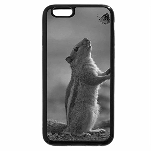 iPhone 6S Plus Case, iPhone 6 Plus Case (Black & White) - Ground squirrel