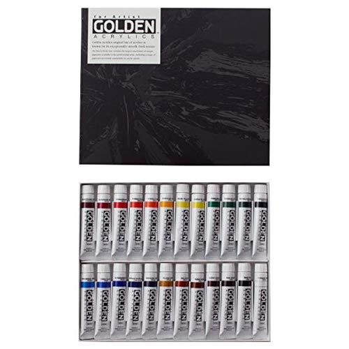 色ののびと発色性の良さが、表現を広げる! ターナー色彩 アクリル絵具 ゴールデンアクリリックス 20ml 24色セット GL02024C 〈簡易梱包   B07RZWQDGV