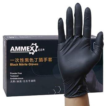 100 gants en latex caoutchouc d/'examen jetable restauration moyen alimentaire en poudre