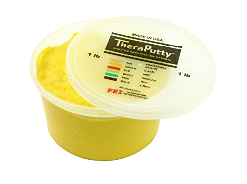 CanDo Sparkle Theraputty - 1 lb - Yellow - X-Soft by Cando
