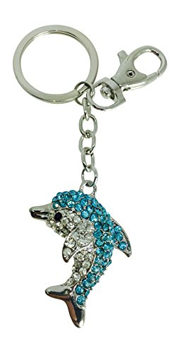 Value Arts Bejeweled Dolphin Key Chain, 5 Inches (Crystal Florida Dolphin)