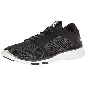 ASICS Women's Gel-Fit Tempo 3 Cross-Trainer Shoe, Black/Silver/White, 7 M US