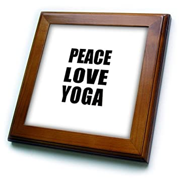 Amazon.com: 3dRose ft_184920_1 Peace Love and Yoga Things ...